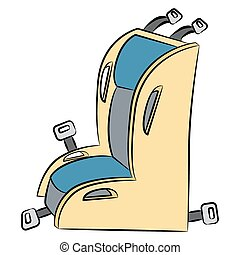 Child Car Seat Cartoon