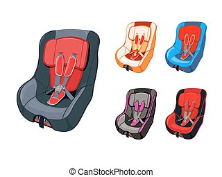 Child car seat - Colorful child car seat isolated