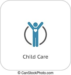 Child Care Icon. Flat Design. - Child Care and Medical ...