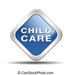 child care in daycare or crèche by nanny or au pair parenting or babysitting protection against child abuse