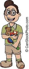 Child care vector cartoon illustration design