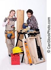 Child carpenters