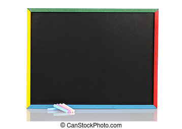 child chalkboard with chalk