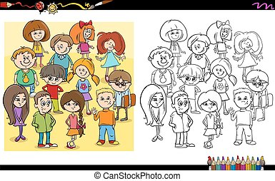 child characters coloring book