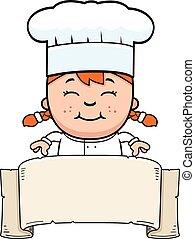Child Chef Sign