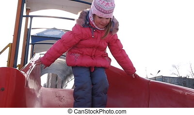 child chute - winter, child chute
