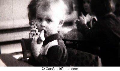 Child close-up- Vintage Super8 Film