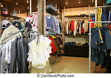 child clothes in shop