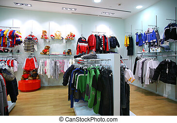 Child clothing department