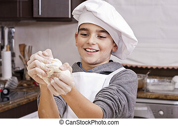 child cooking at home