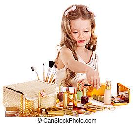 Child cosmetics.