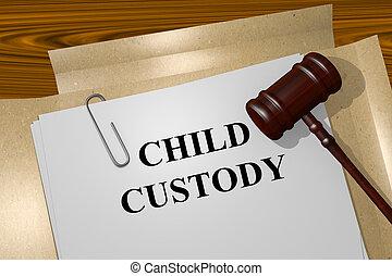 Child Custody concept - Render illustration of Child Custody...