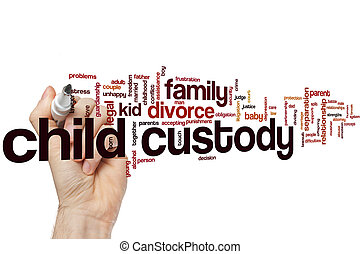 Child custody word cloud concept