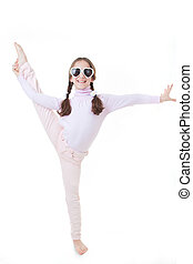 child dancing or exercising