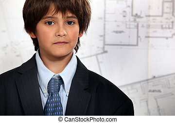 Child dressed as a man