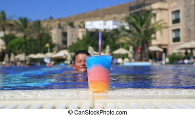 Child drinking summer drink
