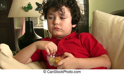Child eating candy