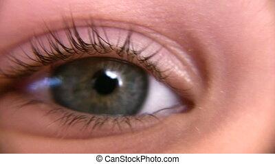 child eye macro
