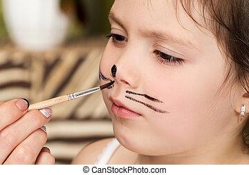 Child face paint