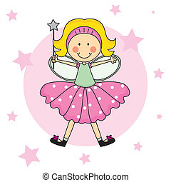 Child Fairy with a magic wand
