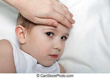 Child fever - Little illness child medicine flu fever...