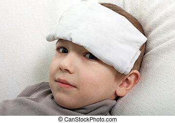 Child fever - Little illness child medicine flu fever ...