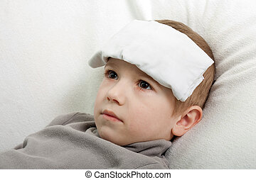 Child fever - Little illness child medicine flu fever...