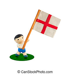 Child Football with the flag of England