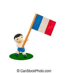 Child Football with the flag of France