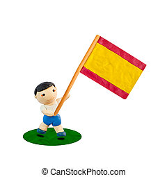 Child Football with the flag of Spain