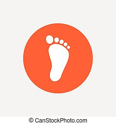 Child footprint sign icon. Barefoot .