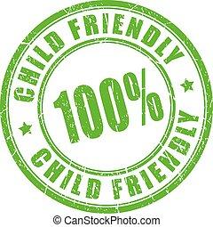 Child friendly rubber stamp
