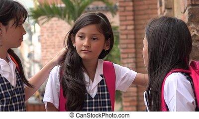 Child Friends Talking At School