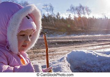 child girl backlight portrait