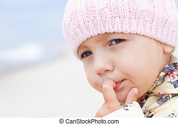 child girl close-up outdoor