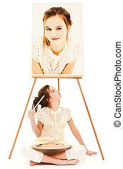 Child Girl Painter