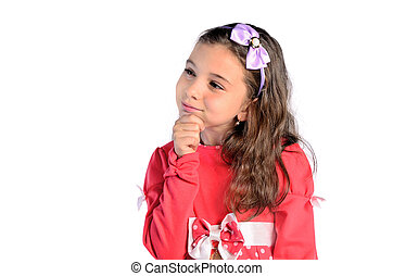 child girl thinking