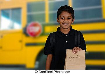 Child Going To School