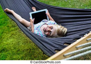 Child hammock tablet