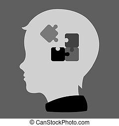 child head profile silhouette