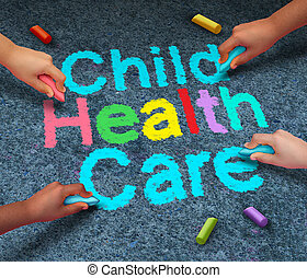Child Health Care - Child health care concept or children...