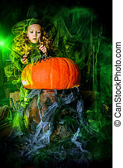 child in a witch lair