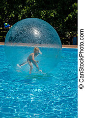 child in air bubble