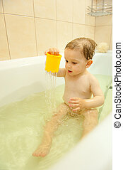 Child in bath