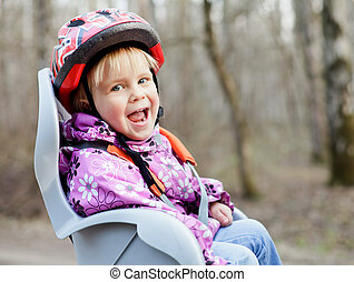 Child in bike seat
