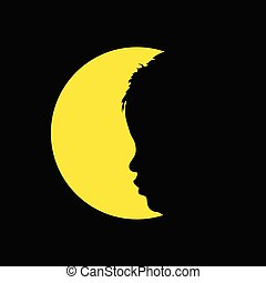 child in circle illustration silhouette