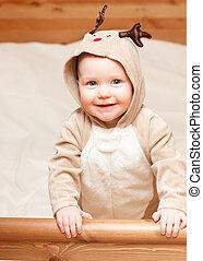 Child in deer costume
