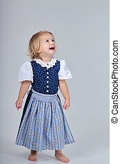 child in dirndl