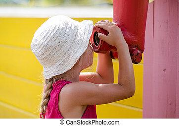 child in playground