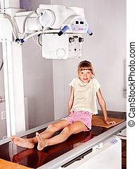 Child in radiologist hospital.